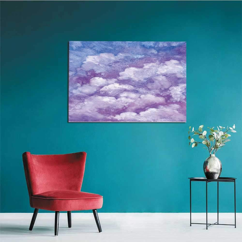 All of better Wall Paper Watercolor Violet Winter Snow Sky Landscape Texture Background Mural 48x32