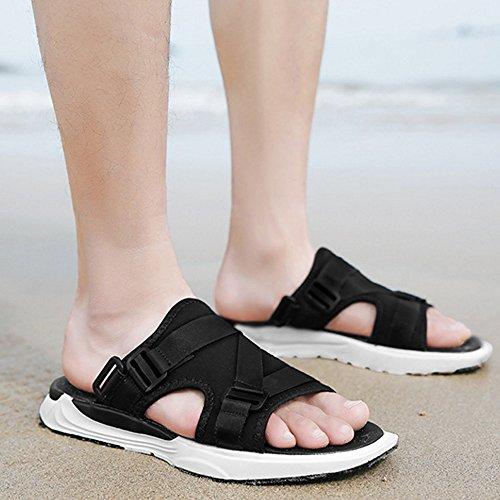 da estivi Sandali Black 1 regolabili EU Color Black antiscivolo 3 spiaggia Size 41 dUfSfE