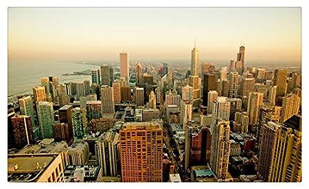 Rascacielos Casas Estados Unidos desde arriba Chicago ciudad ...