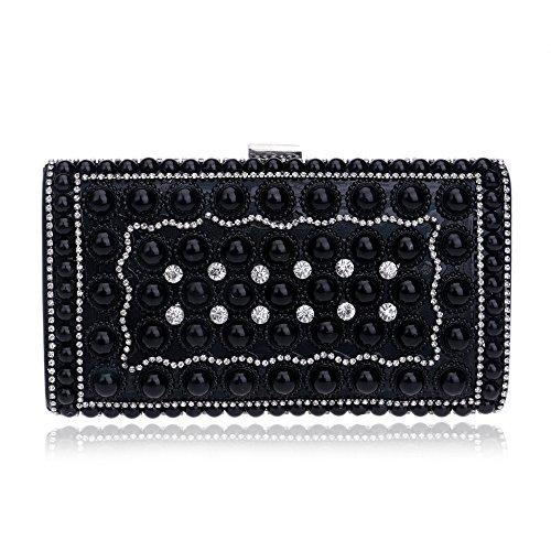 Tutu Evening Bags Femmes Petit Messenger Diamonds Jour Pochette Mariée Avec Sangle De La Chaîne Par, Or Noir