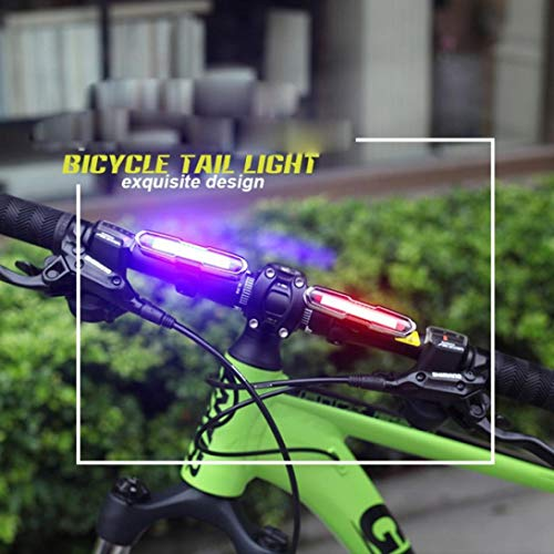 Glumes Front/Rear Bike Light USB Rechargeable|Ultra Bright Powerful Safety Taillight|High Intensity Rear LED Accessories|5 Light Mode Options|IPX6 Waterproof|for all Bikes/Helmets (Blue)