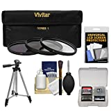 Vivitar Series 1 3-Piece Multi-Coated HD Pro Filter Set (40.5mm UV/CPL/ND8) with Tripod + Kit for Nikon 1 V1, J1 Interchangeable Lens Digital Camera with 10mm f/2.8, 30-110mm VR & 10-30mm Lens