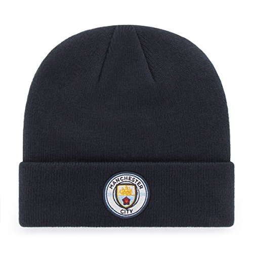 OTS International Soccer Manchester City EPL Raised Cuff Knit Cap, Navy, One Size
