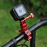 PULUZ 360 Degree Rotation Bicycle Bike Aluminum Handlebar Adapter Mount with Screw for GoPro HERO6 Session 5 4 3+ 3 2 1 - Xiaoyi Sport Camera