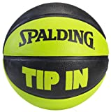 Spalding Tip In Outdoor Rubber Basketball - Black/Green - Size 7