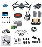 DJI Mavic PRO Portable Collapsible Mini Racing Drone with 2 Total Batteries, + 64GB SD Card + Range Extender, Lens Hood, Reader, Landing Gear, Stick Protector, Prop Guards, Koozam Cloth