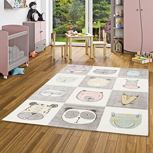 Pergamon Kinder Teppich Maui Kids Pastel Bunt Karo Sterne in 5 Gr/ö/ßen