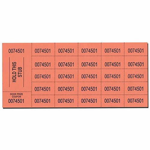 Auction Tickets 500 Sheets Orange Ticket Rolls