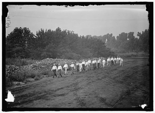 Photo: Walter IE Camp,Exercise School,officials,Government,Cabinet,walking,path,1917