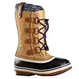 Sorel Children's Youth Joan of Arctic Knit Boot,Curry,US 1 M