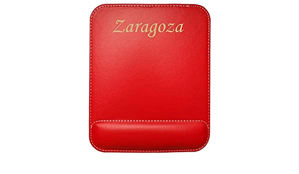 Almohadilla de cuero sintético de ratón personalizado con el texto: Zaragoza (ciudad / asentamiento): Amazon.es: Oficina y papelería