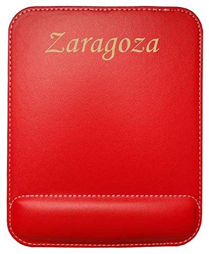 Almohadilla de cuero sintético de ratón personalizado con el texto: Zaragoza (ciudad / asentamiento