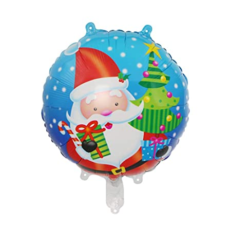 Da.Wa 1X Globo de Navidad Papel de Aluminio Santa Claus ...