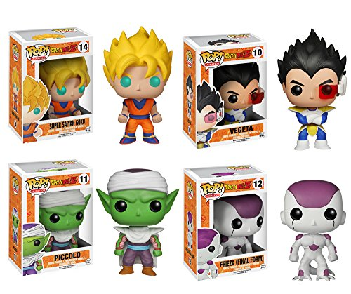 Funko Dragonball Z POP! Anime Vinyl Collectors Set: SS Goku, Vegeta, Piccolo, FF Frieza Action Figure