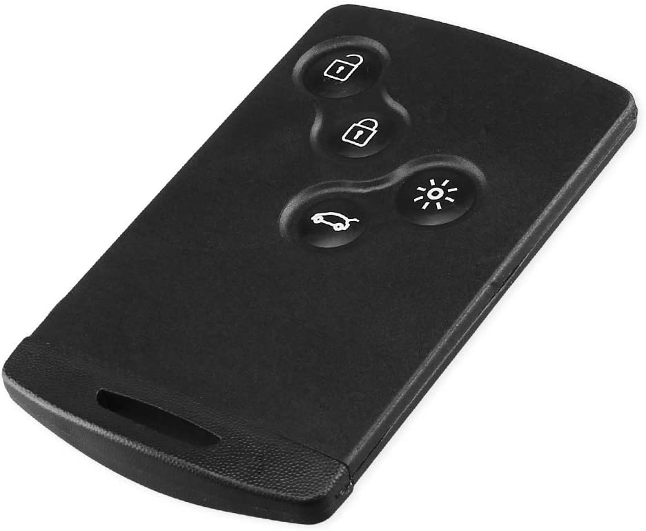 SODIAL 4 Bouton Voiture Haute Qualite 433 MHz PCF7952 Puce 4 Bouton Telecommande Cle Carte a Puce Cle De Voiture pour Renault Koleos Clio Megane Scenic Laguna
