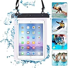 "ONX3® (Black) HP TouchPad 9.7"" Universal Transparent Tablet, Passport, Money Underwater Waterproof Protection Dry Bag, Case, Cover"
