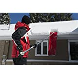 SNOWPEELER ROOF RAKE! Easy-To-Use Rooftop Snow Removal Tool with 20-FT Handle, 9-FT Snow Slide and 18-IN Cutting Blade. Aluminum and Stainless-Steel Construction. Less Time and Effort than Snow Rakes!