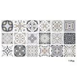 "Alwayspon Vinyl Floor Wall Tiles Sticker, Waterproof Non-slip Splashback Tiles Decal for Kitchen Bathroom, Self-adhesive Peel and Stick PVC DIY Home Decor, 23.6x47.2""/60x120cm, 1 Pcs"