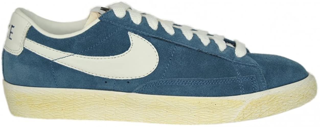 Vintage Suede Trainers in Obsidian Blue
