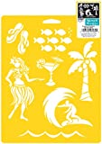 Delta Creative Stencil Mania Stencils, 7 by 10-Inch, SM97-0850 Tropical Vacation