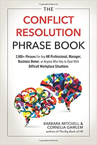 the conflict resolution phrase book 2 000 phrases for any hr