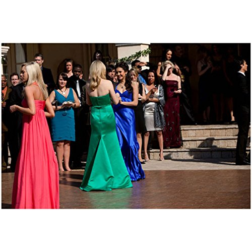 The Vampire Diaries (TV Series 2009 - ) 8 inch x 10 inch photograph Nina Dobrev in Floor Length Blue Dress at Formal Event kn
