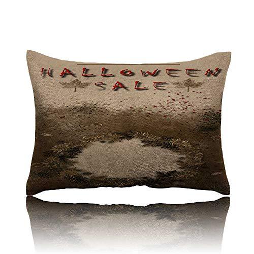 (Memory Foam Pillow Halloween Sale Festival Event Announcement Vertical Template in Spice Colors 1 Massage Pillow)