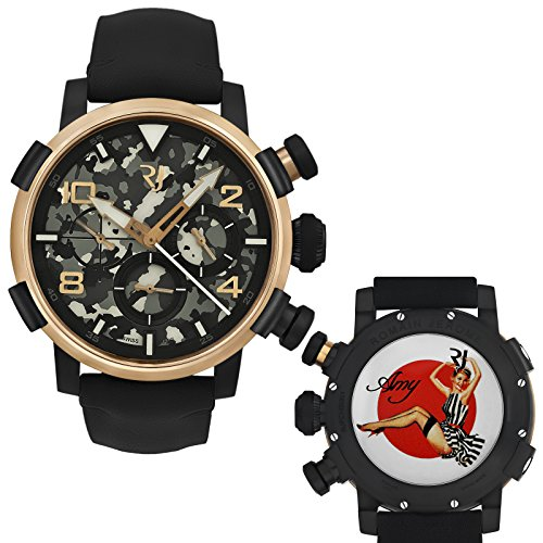 Romain-Jerome-Pinup-DNA-Red-Gold-WWII-Amy-Stripes-Chrono-Auto-RJPCH00301