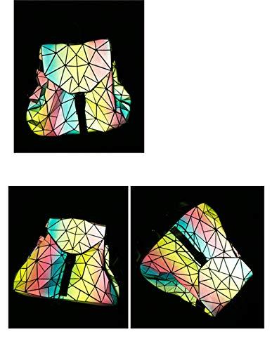 Giornaliero Fluorescente Di Geometrico Forma A Zaino Donna Arcobaleno Multi CRwqnvdd
