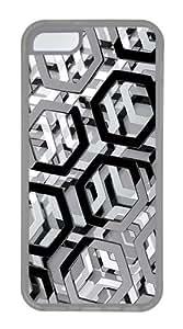 iPhone 5C Case,Hexagons 3D TPU Custom iPhone 5C Case Cover Transparent