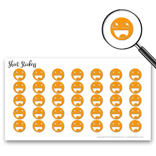 Epic Face Smiley JDM Import Drift, Sticker Sheet 88 Bullet Stickers for Journal Planner Scrapbooks Bujo and Crafts, Item 1386200