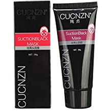 CUCNZN Bamboo Charcoal Blackhead Remover Suction Black Peeling Mask - Nose, Face Mask (60g)