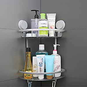 Amazon Com Mcelf Int Corner Shower Caddy Suction