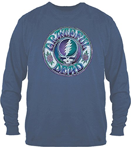 Grateful Dead Batik Style Steal Your Face Long Sleeve Shirt by Dye The Sky - Your Style Face