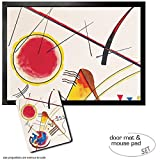 Set: 1 Door Mat Floor Mat (28x20 inches) + 1 Mouse Pad (9x7 inches) - Wassily Kandinsky, Watercolour from The Hess Guestbook, 1925