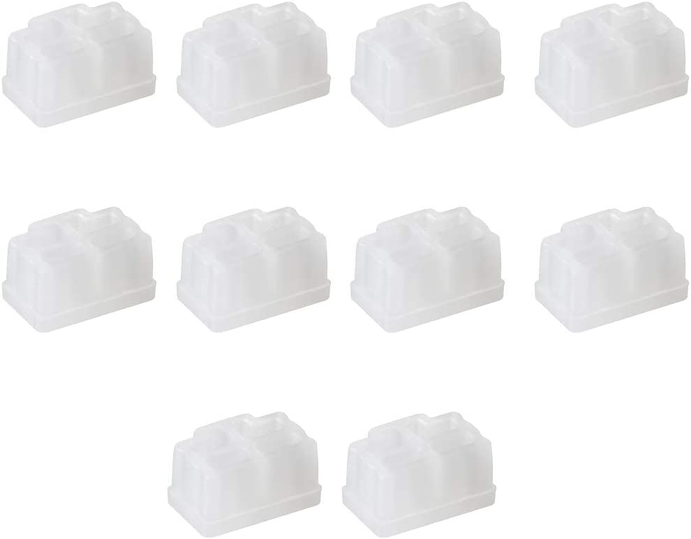 uxcell 10pcs RJ45 Silicone Protectors Ethernet Hub Port Anti Dust Cap Cover 12mmx8.3mm Clear