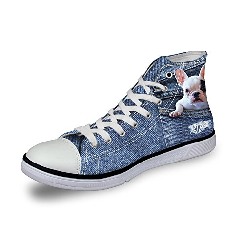 Coloranimal Dog 6 Chaussons Femme Montants Denim qpZwf