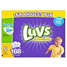 Luvs Ultra Leakguards Diapers, One Month Supply, Size 5, 168 Count