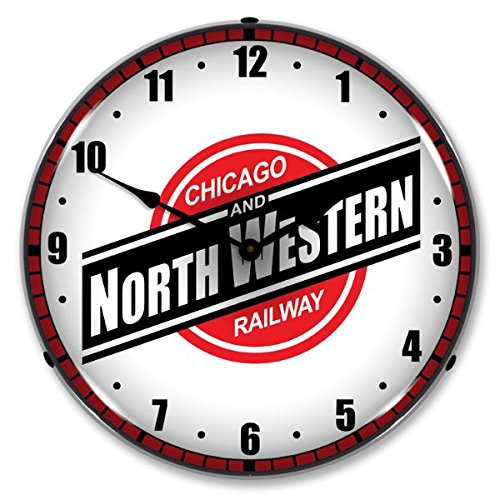 - Chicago North Western Railroad Lighted Wall Clock