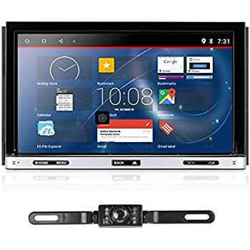 Upgarde Version Andriod 7.1 Double DIN Car Stereo –Ehotchpotch 7 in Dash car Radio GPS Navigation Audio Receiver Bluetooth WiFi Mirror Link SD USB AM/FM ...