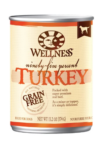 Wellness 95% Turkey Recipe Dog Food (Pack of 12, 13.2-Ounce Cans), My Pet Supplies