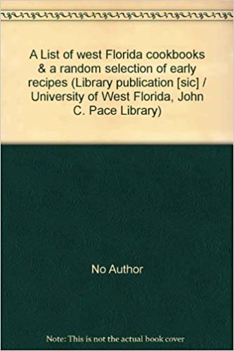 A List of west Florida cookbooks & a random selection of