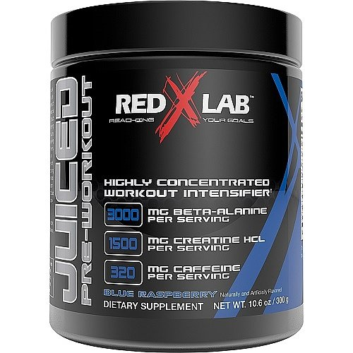 Red X Lab Juiced PreWorkout Blue Raspberry 300 g