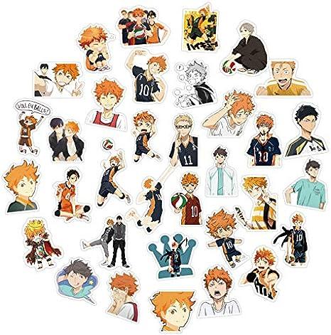 50PCS Anime Haikyuu PVC Sticker for Luggage Laptop Skateboard Waterproof RIB TH