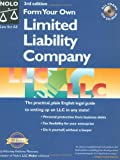 "Form Your Own Limited Liability Company ""With CD"" with CDROM"
