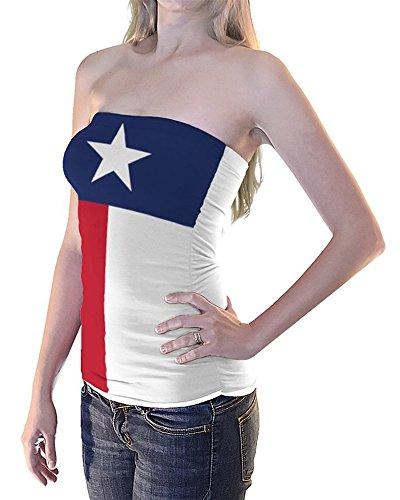 Texas Flag Tube Top Women's Girls Bikini Beach Cover Up - Flag Tube Top