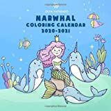 Narwhal Coloring Calendar: Wall Calendar Featuring Peaceful Ocean Creatures like Narwhals, Unicorns of the Sea, Whales…