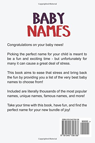 Baby Names The Ultimate Guide For Boys And Girls Including Popular Famous Unique More
