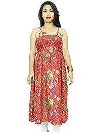 Floral Patter Cotton Dress Spaghetti Strap Women Wear Summer Tunic Sundress