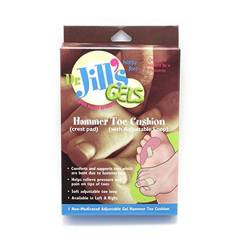 Dr. Jill's Gel Hammer Toe Cushion w/Adjustable Loop - Right